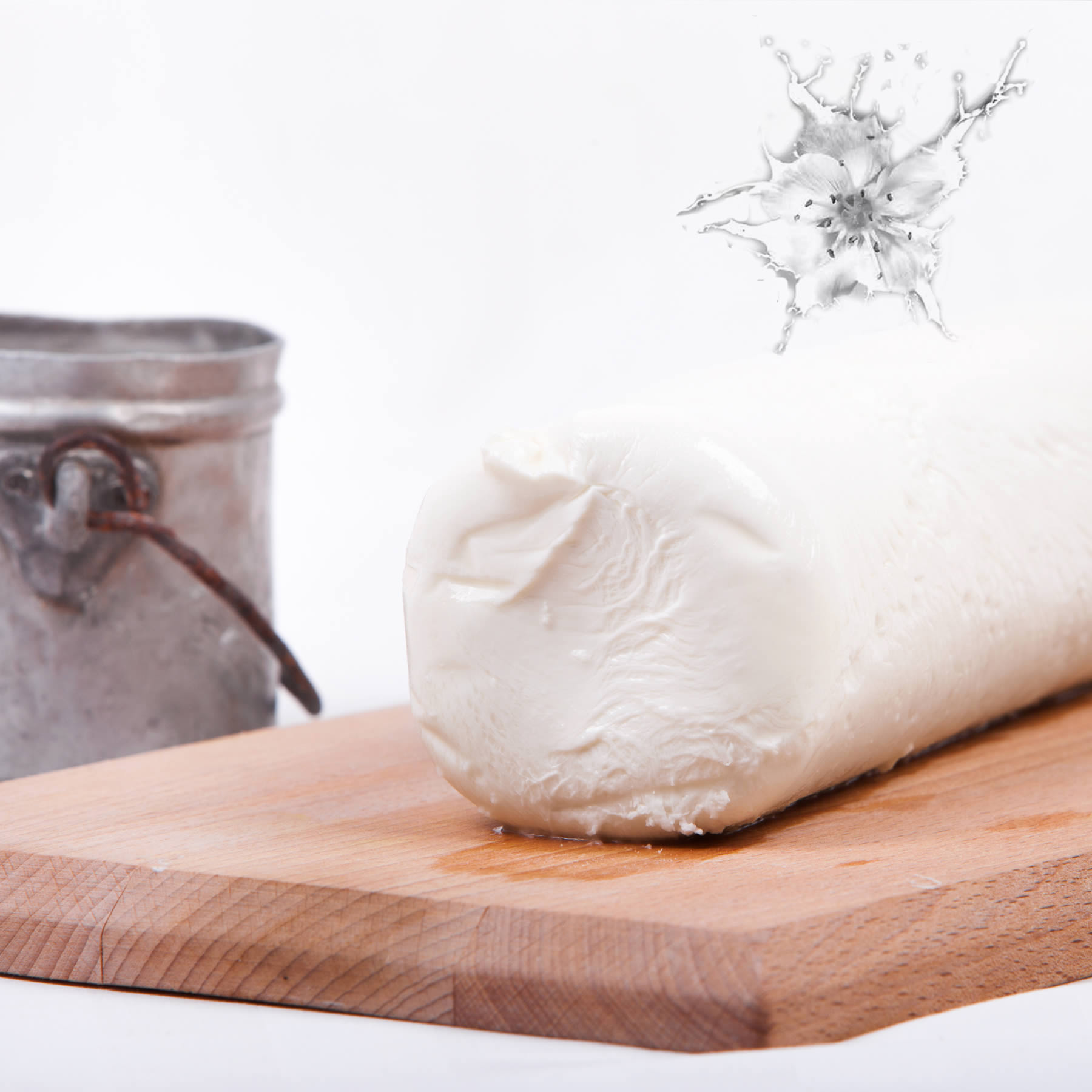 Fresh mozzarella cheese log 1 kg (Filone)
